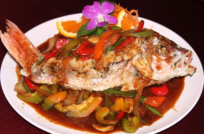 Thai Whole Snapper Red Curry